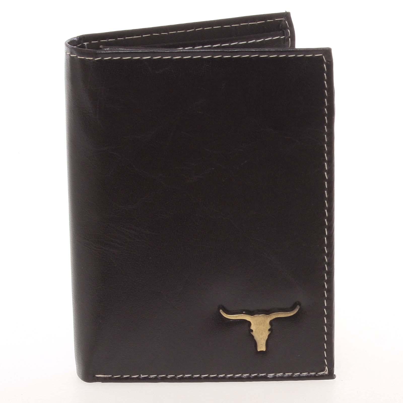 Elegantní pánská černá kožená peněženka - BUFFALO Dilan