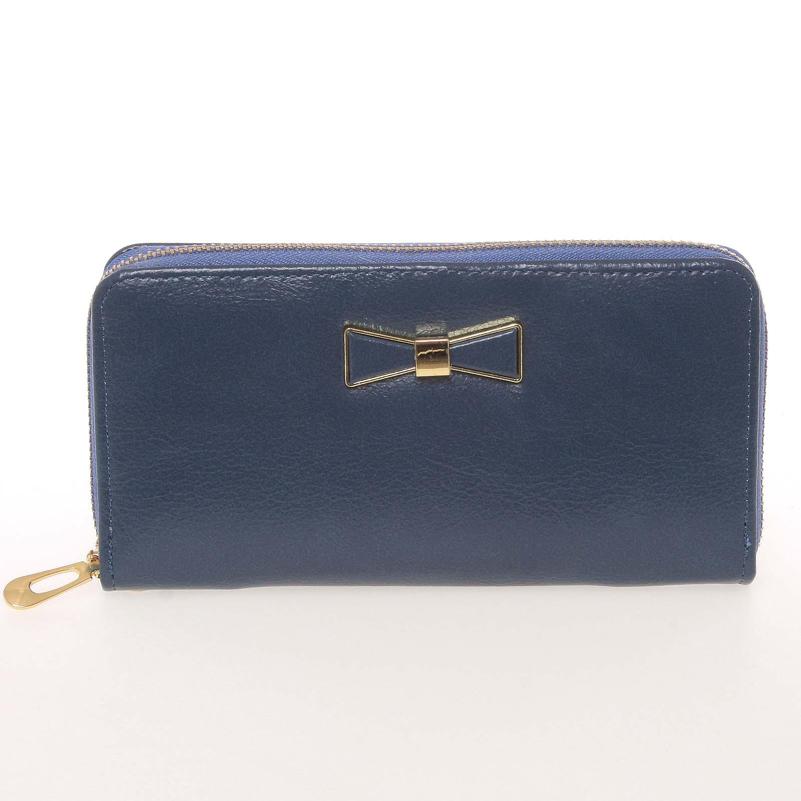 Moderní dámská peněženka s poutkem modrá - Milano Design SF1821