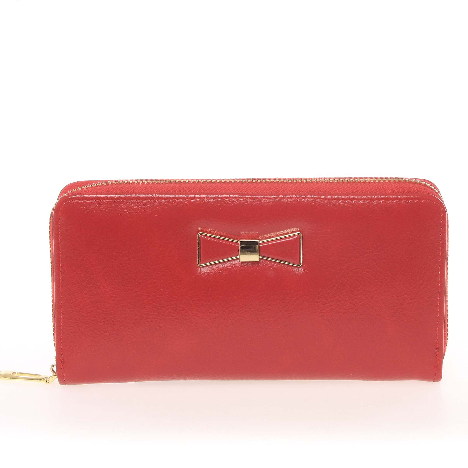 Moderní dámská peněženka s poutkem červená - Milano Design SF1821
