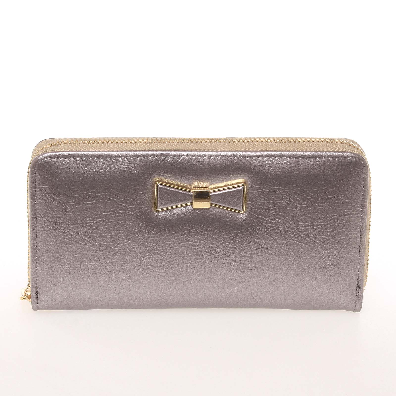 Moderní dámská peněženka s poutkem stříbrná - Milano Design SF1821
