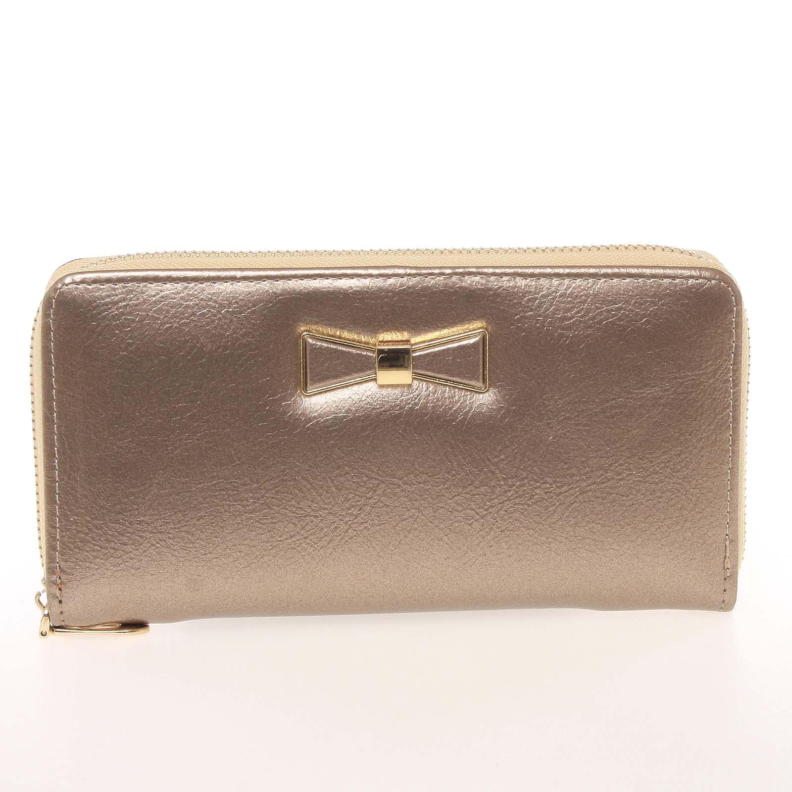 Moderní dámská peněženka s poutkem zlatá - Milano Design SF1821