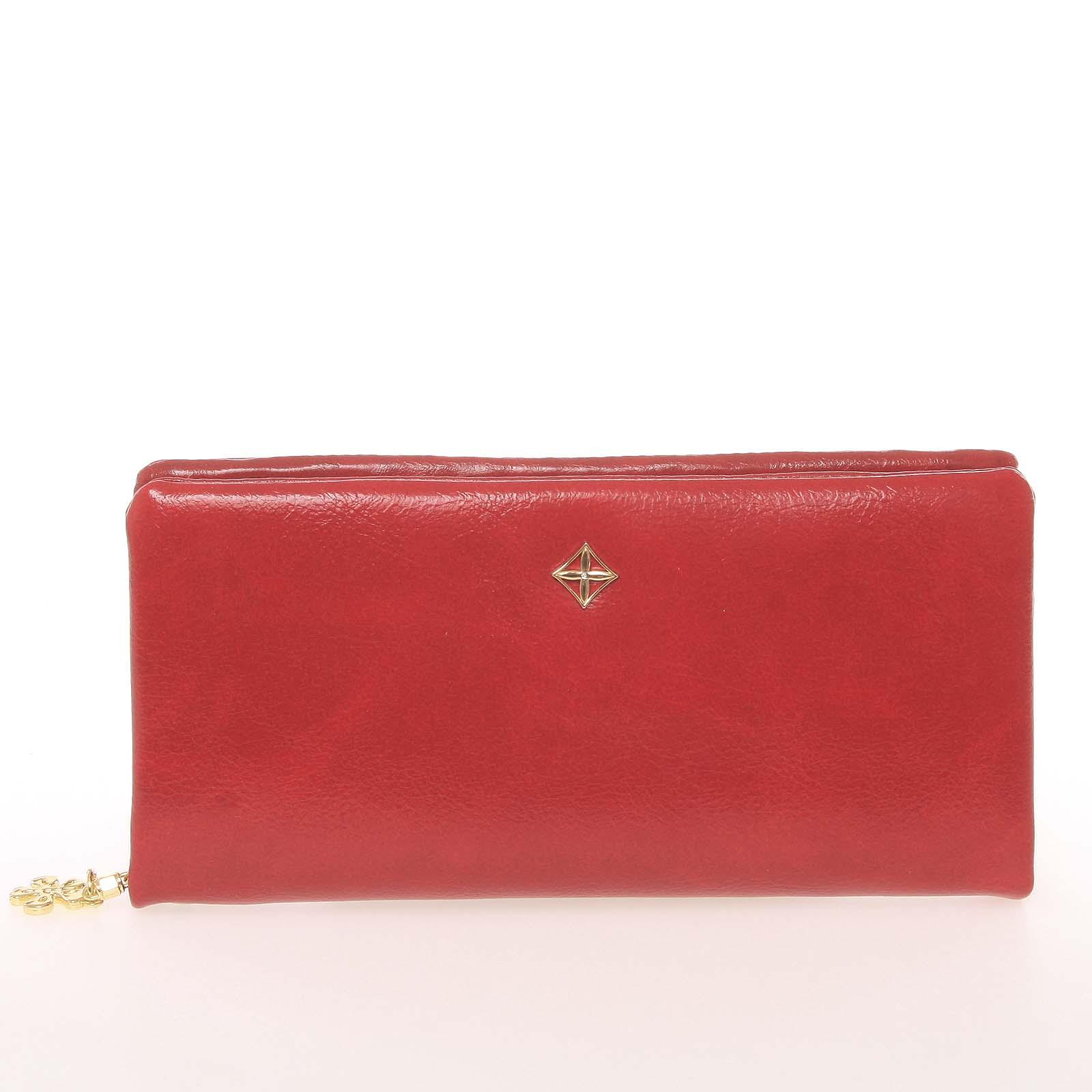 Módní dámská peněženka/psaníčko červená - Milano Design SF1803