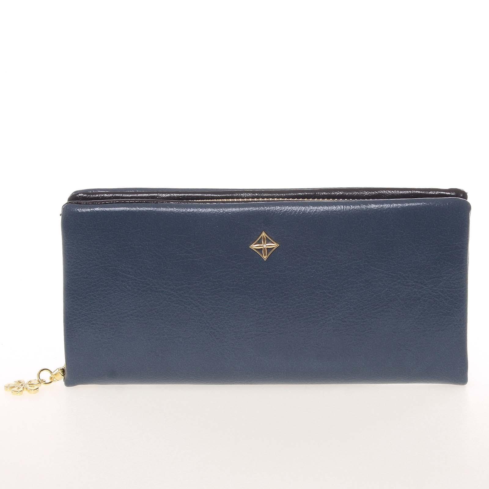 Módní dámská peněženka/psaníčko modrá - Milano Design SF1803