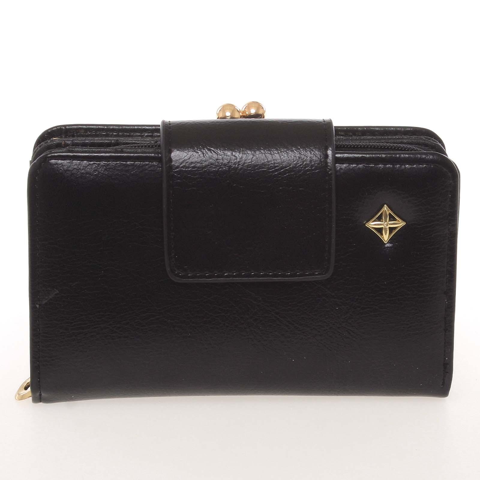 Klasická dámská černá peněženka - Milano Design SF1801