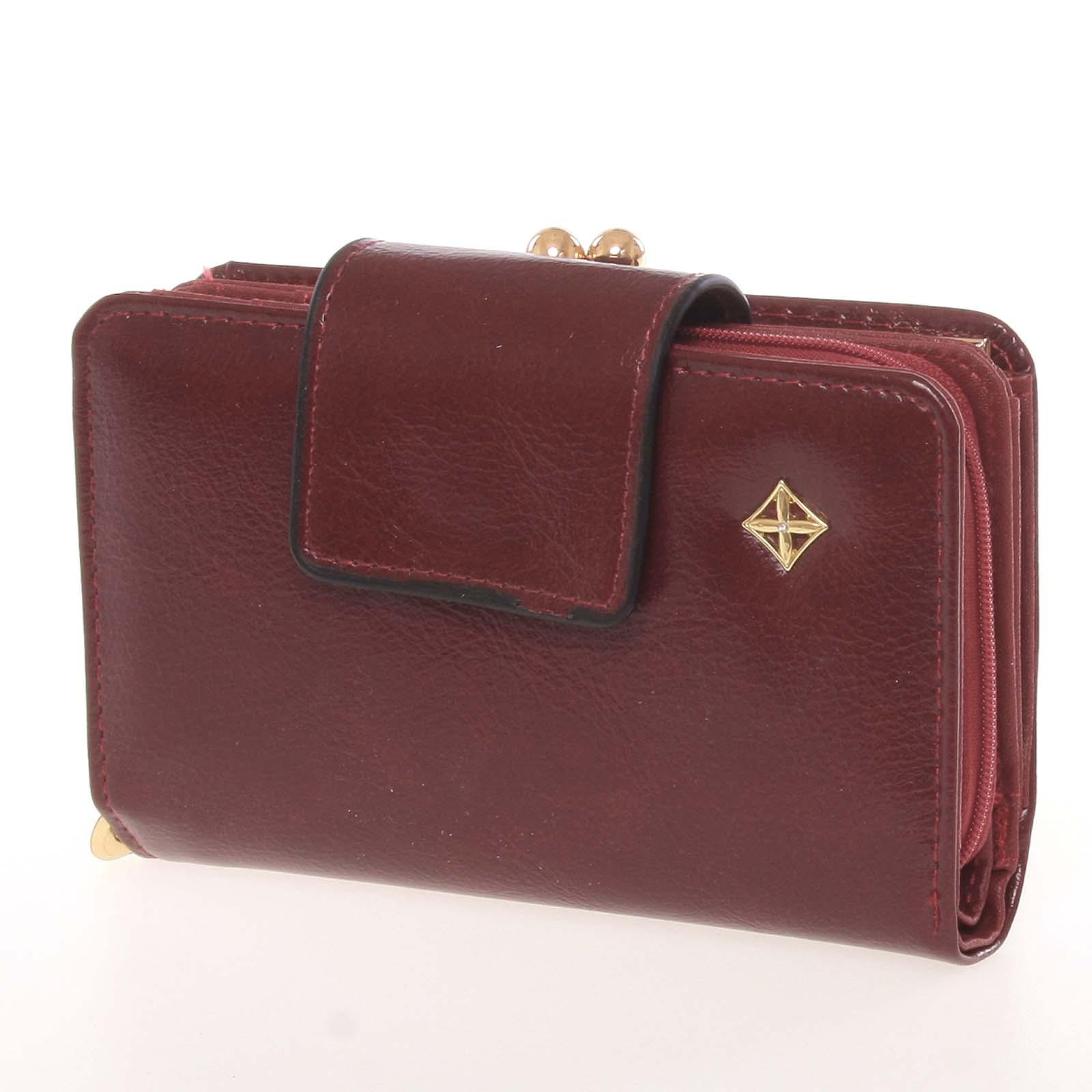 Klasická dámská vínová peněženka - Milano Design SF1801
