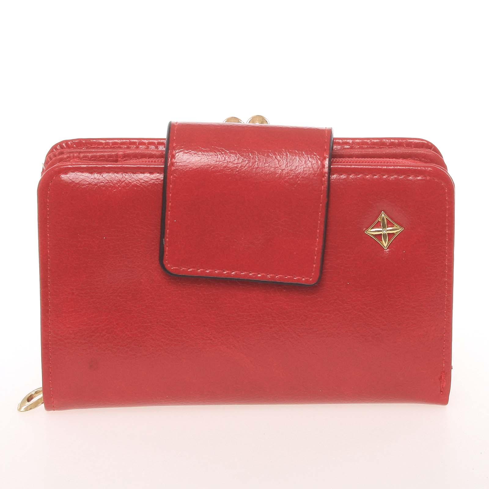 Klasická dámská červená peněženka - Milano Design SF1801