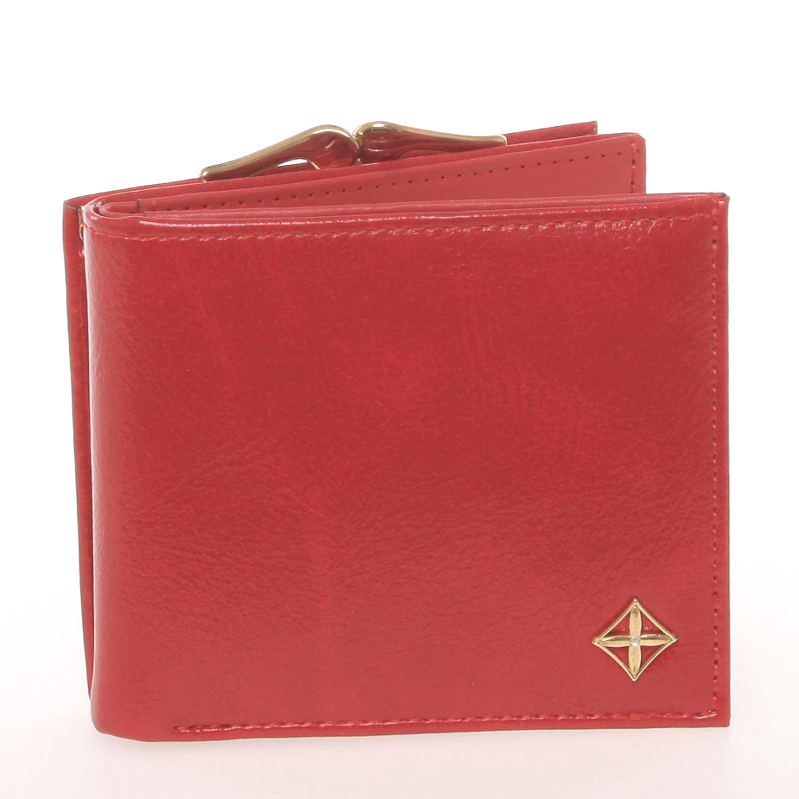 Moderní menší dámská červená peněženka - Milano Design SF1814