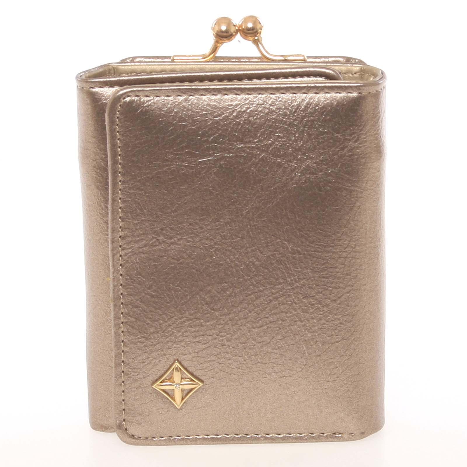 Atraktivní malá dámská zlatá peněženka - Milano Design SF1807