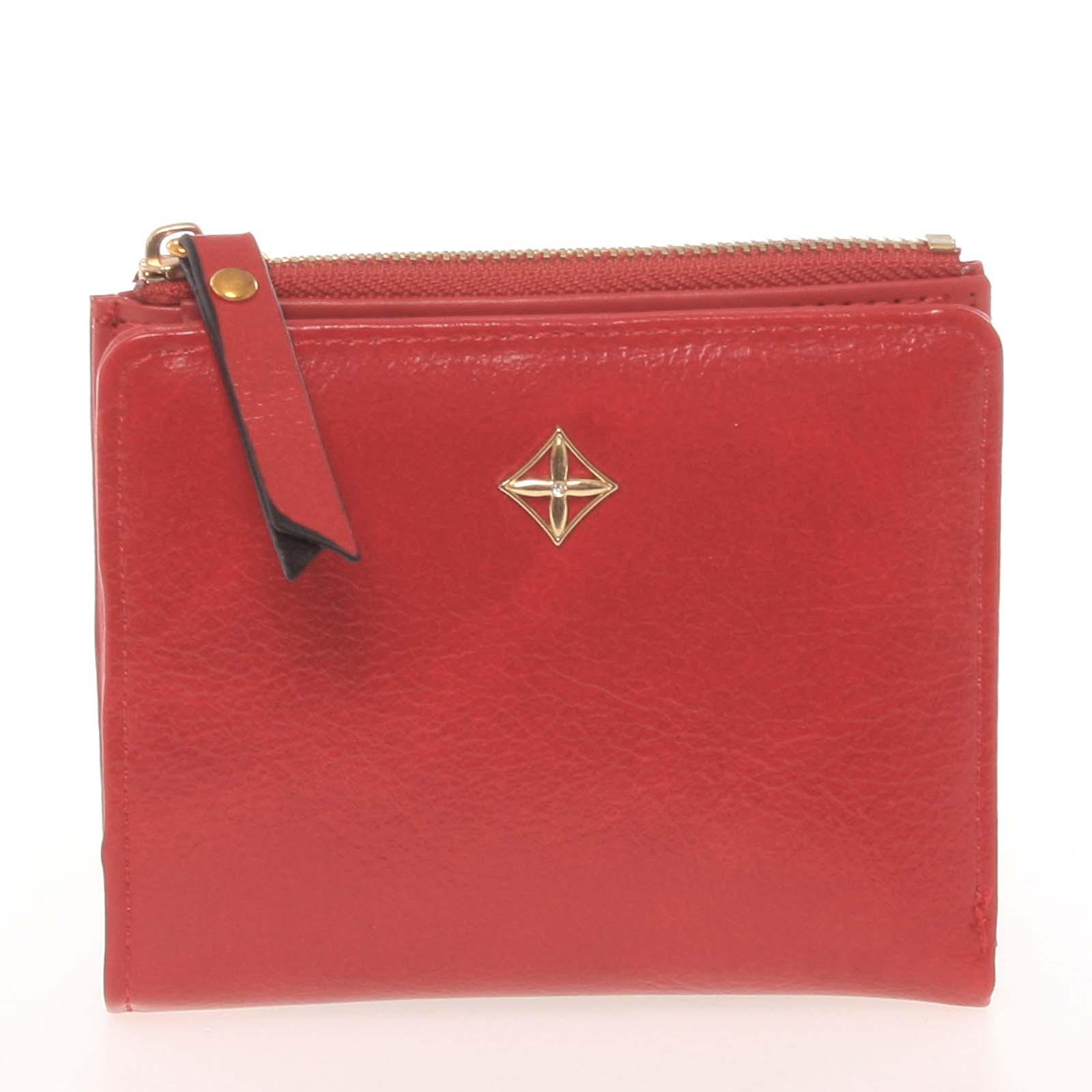 Jednoduchá malá dámská červená peněženka - Milano Design SF1806