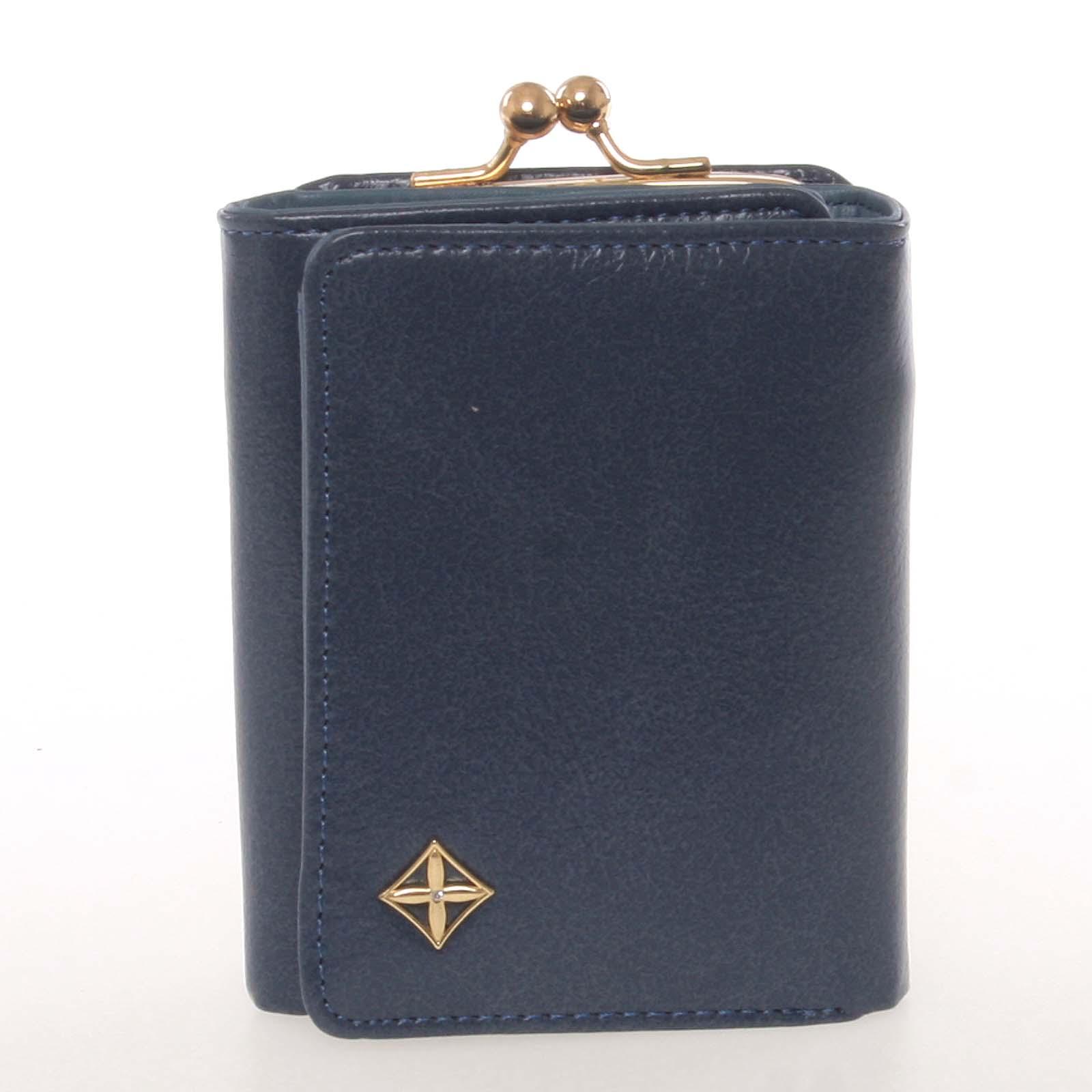 Atraktivní malá dámská modrá peněženka - Milano Design SF1807