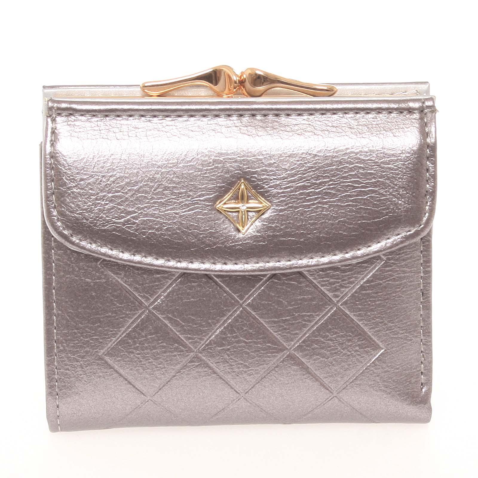 Trendy menší dámská stříbrná peněženka se vzorem - Milano Design SF1815