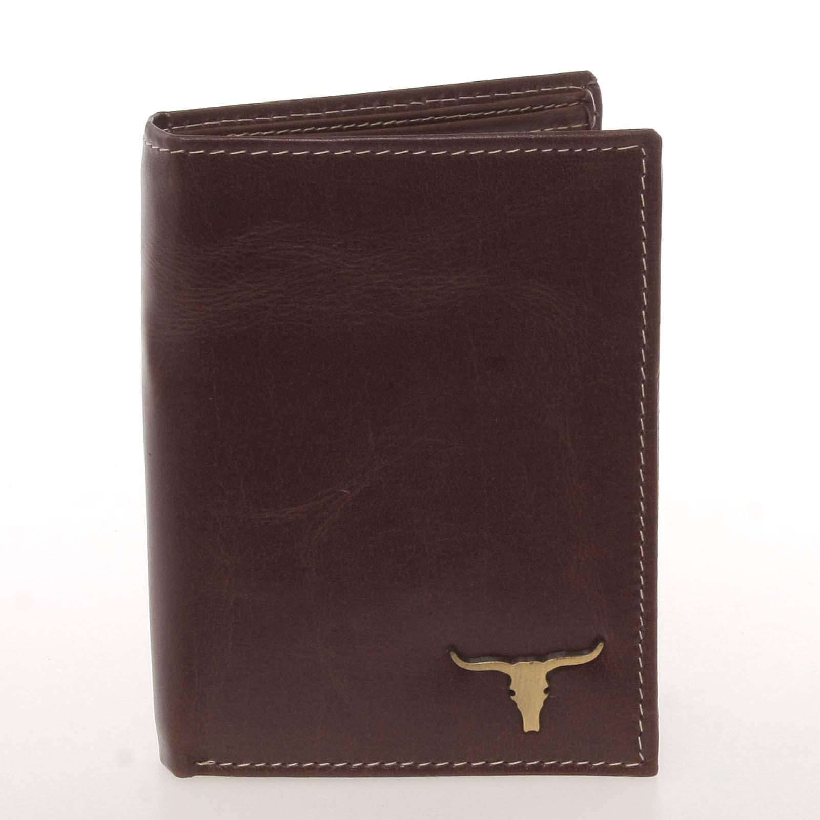 Kvalitní pánská kožená hnědá peněženka - BUFFALO Paden