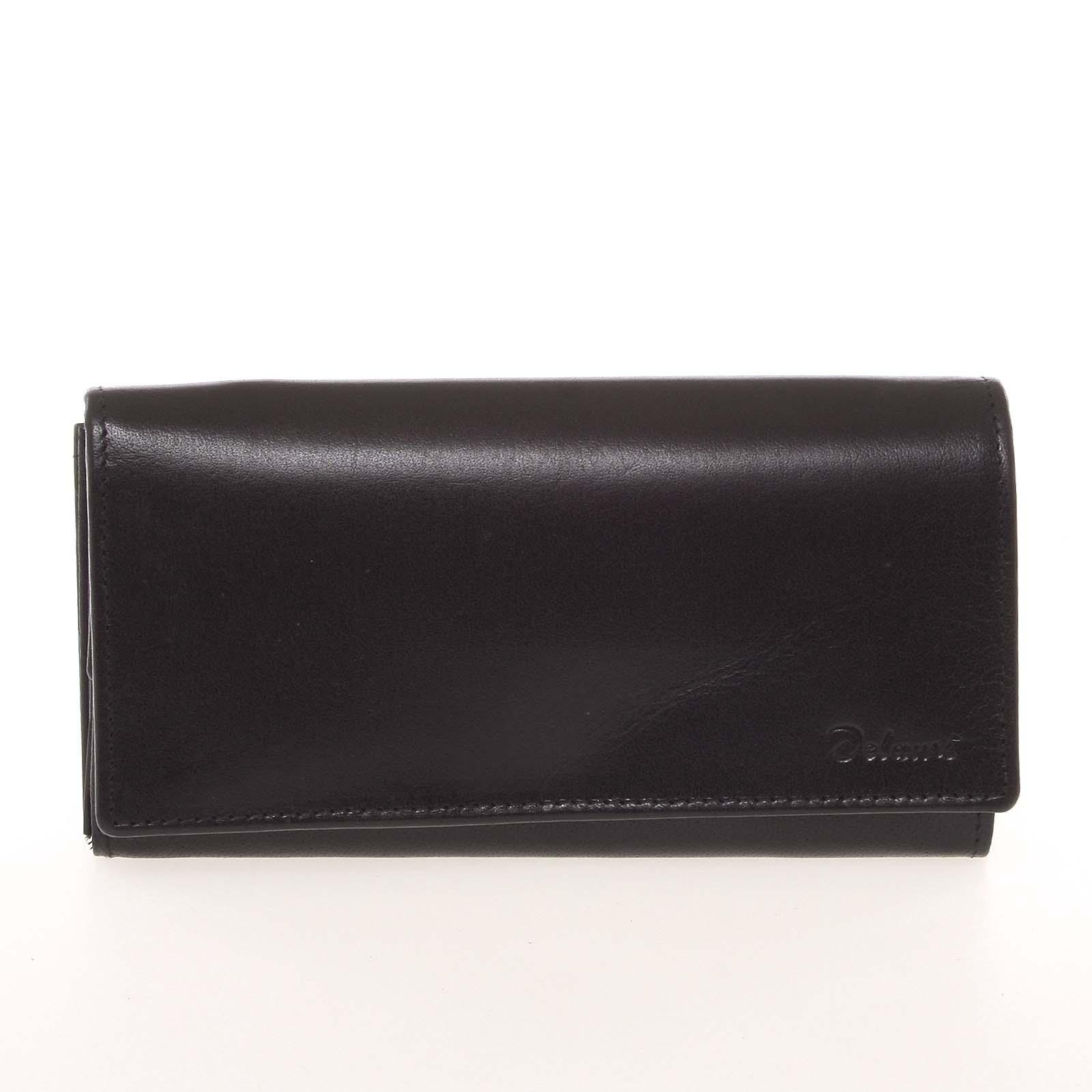 Kvalitní dámská kožená černá peněženka - Delami BAGL04104
