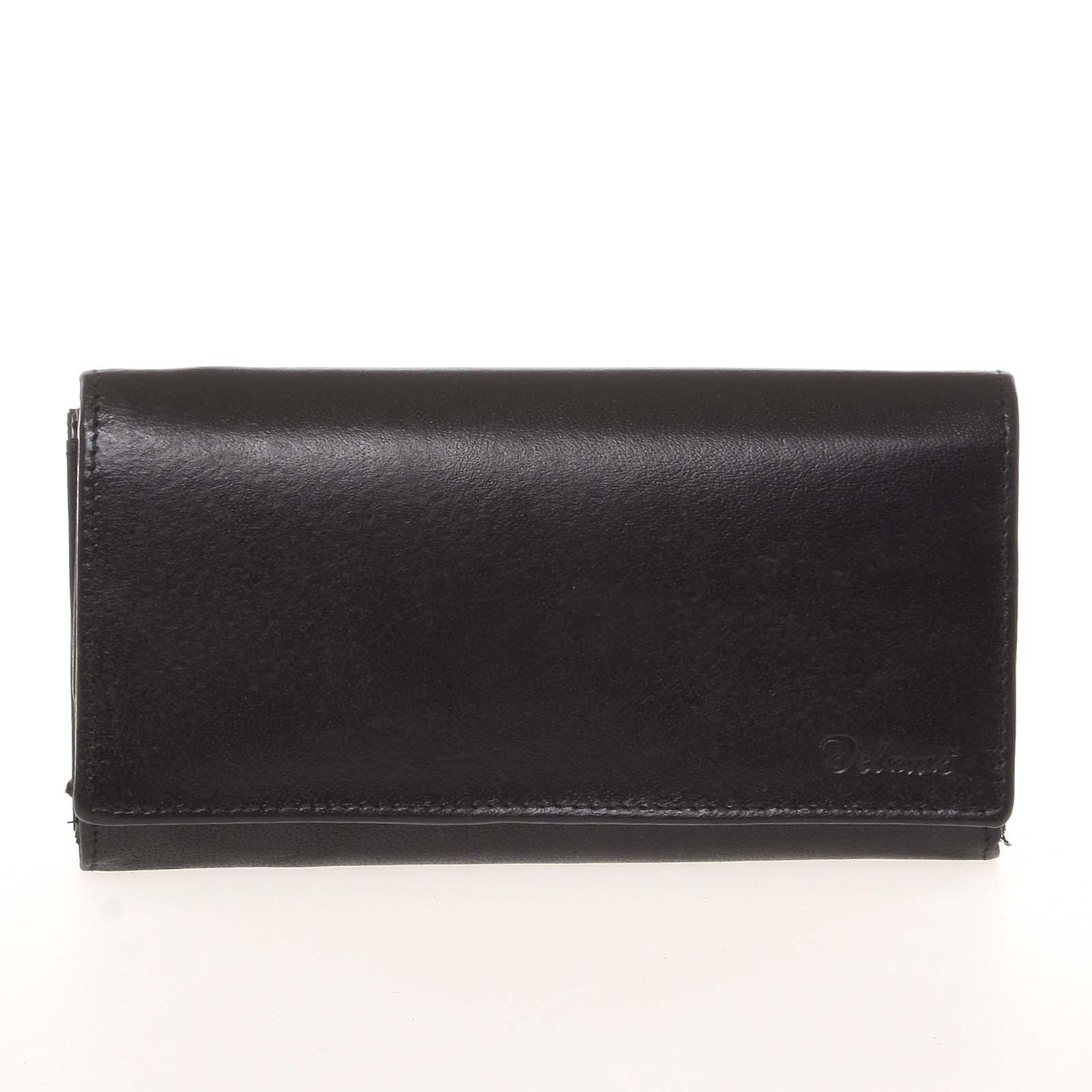 Dámská kožená černá peněženka - Delami CHAGL04104
