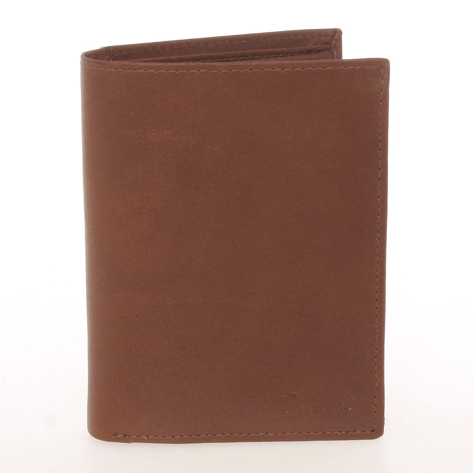 Módní pánská kožená koňaková peněženka - Delami Marquis