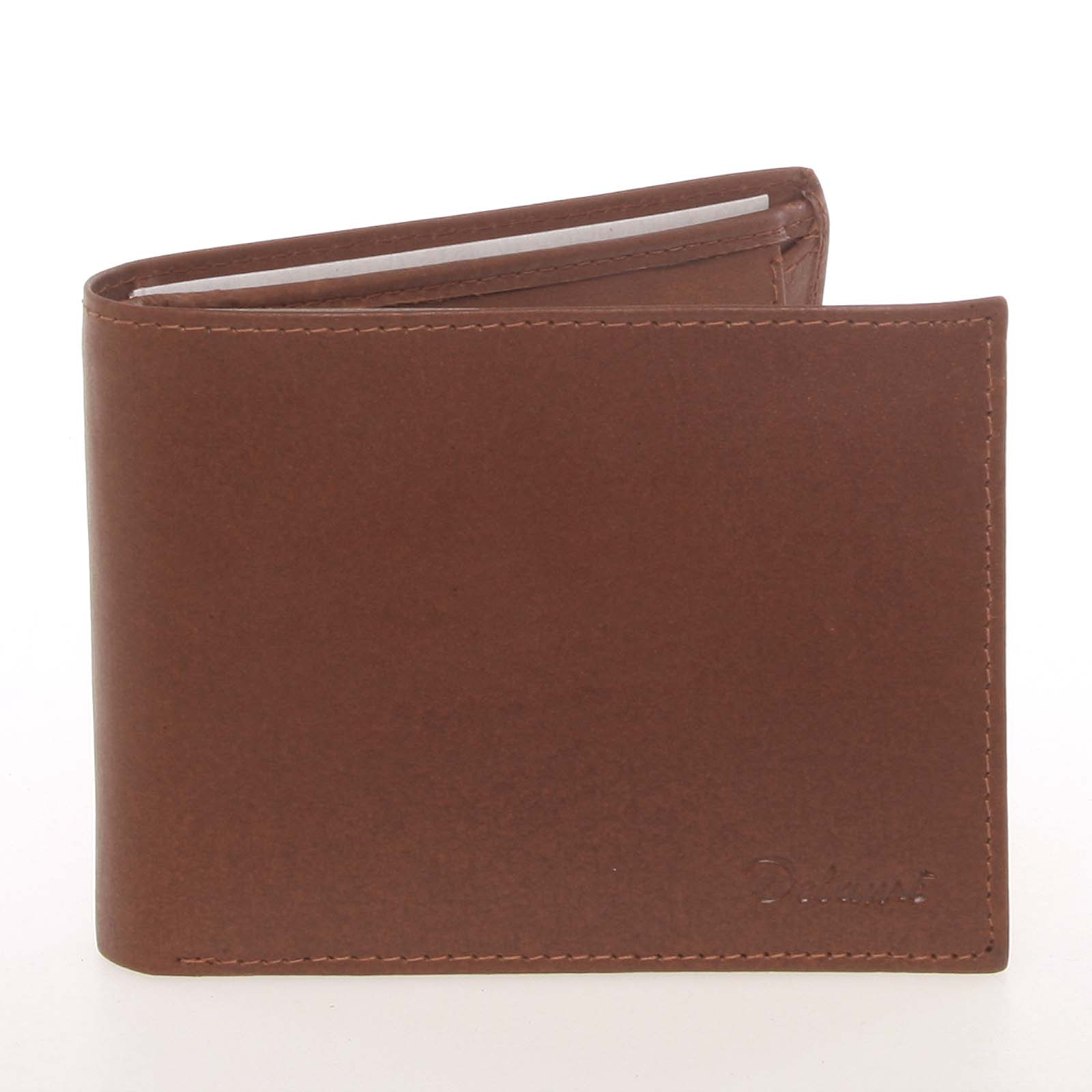 Pánská kožená koňaková peněženka - Delami Colbey