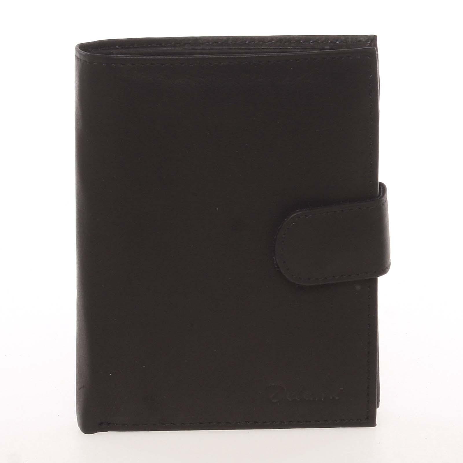 Módní pánská kožená černá peněženka - Delami Chappel