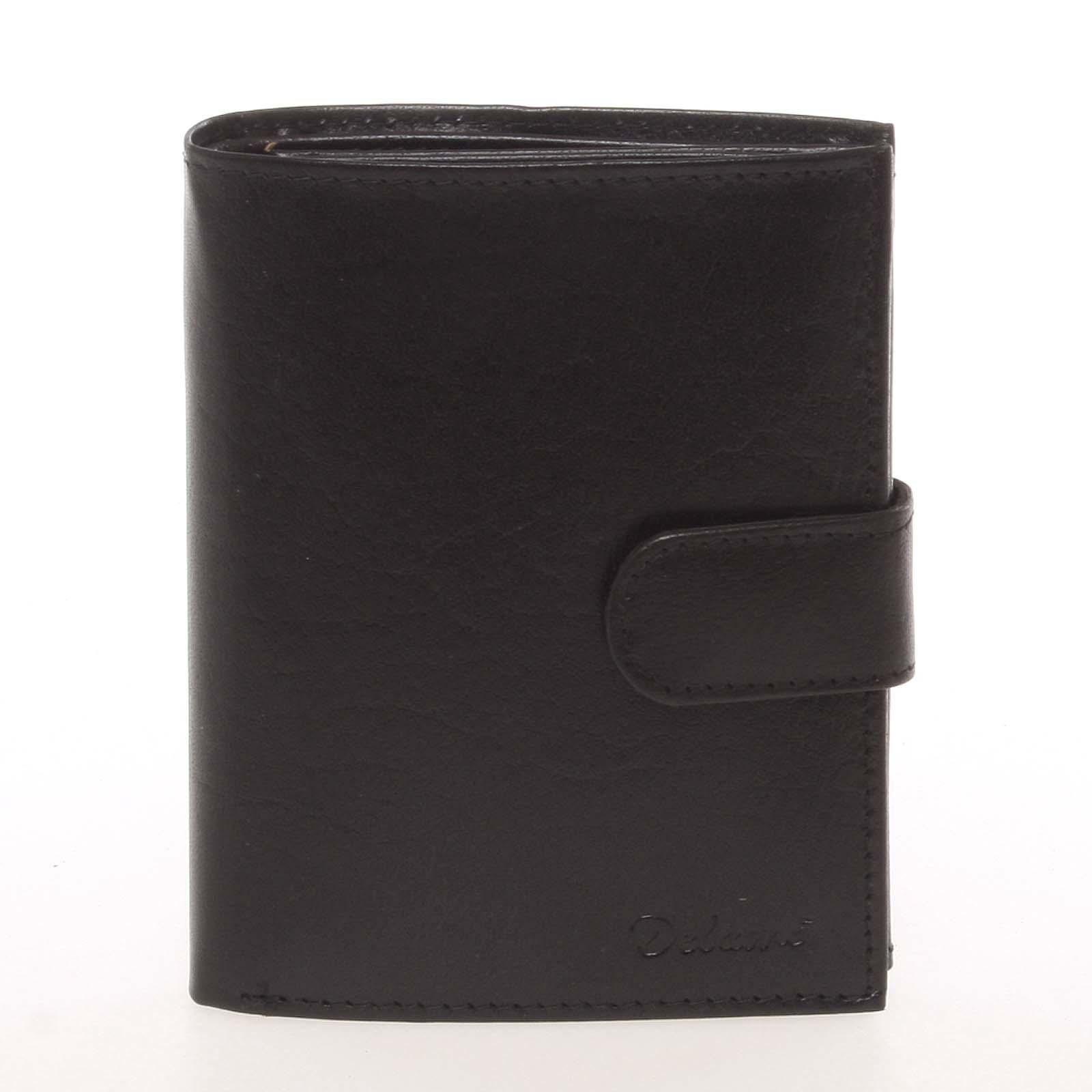 Kožená černá peněženka pro muže - Delami Arnaud