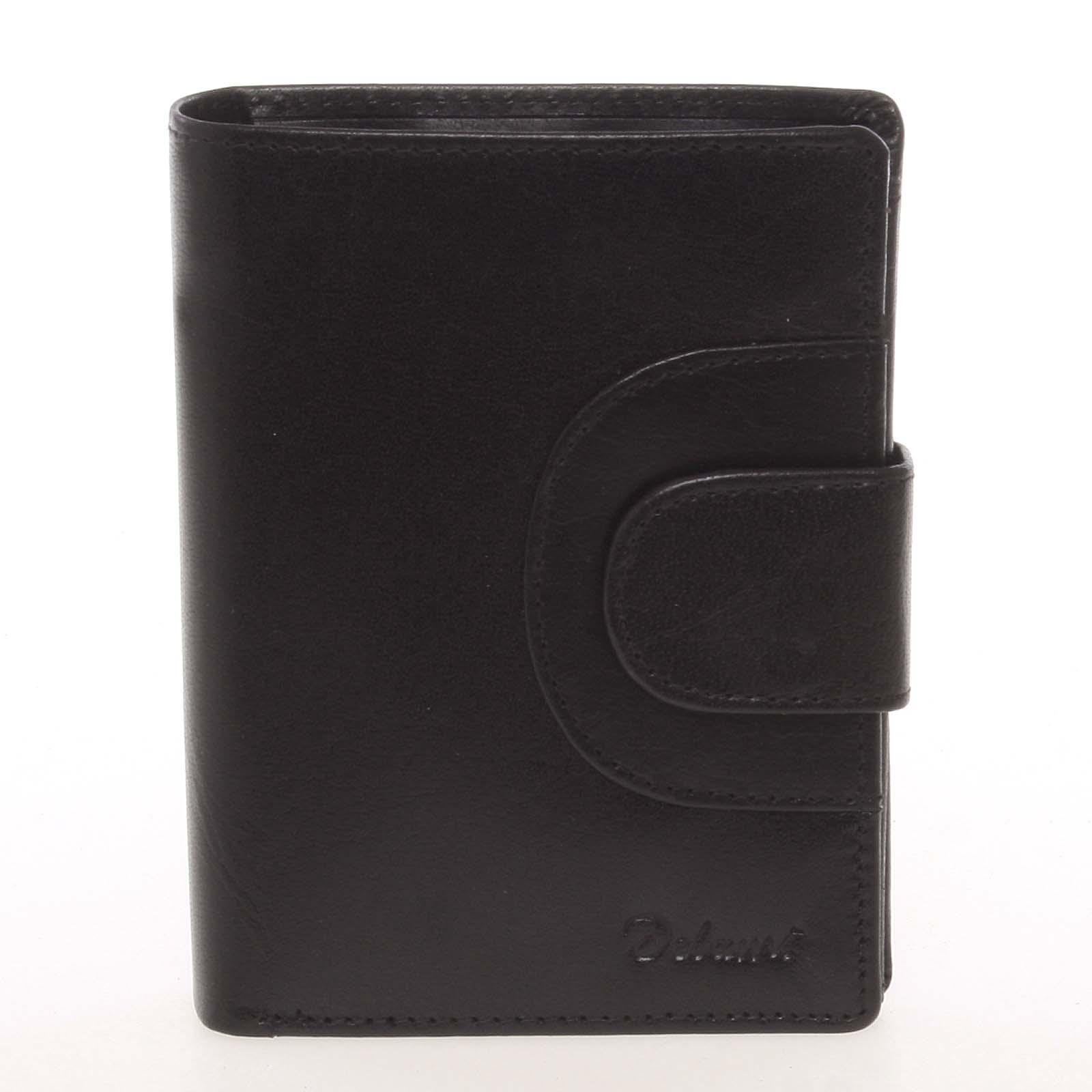 Kožená módní černá peněženka pro muže - Delami Raynard