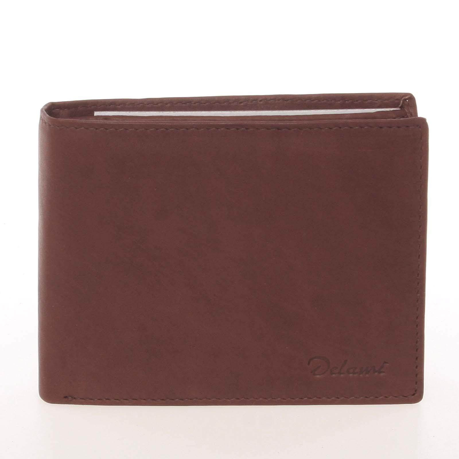 Kvalitní pánská kožená hnědá peněženka - Delami Archard