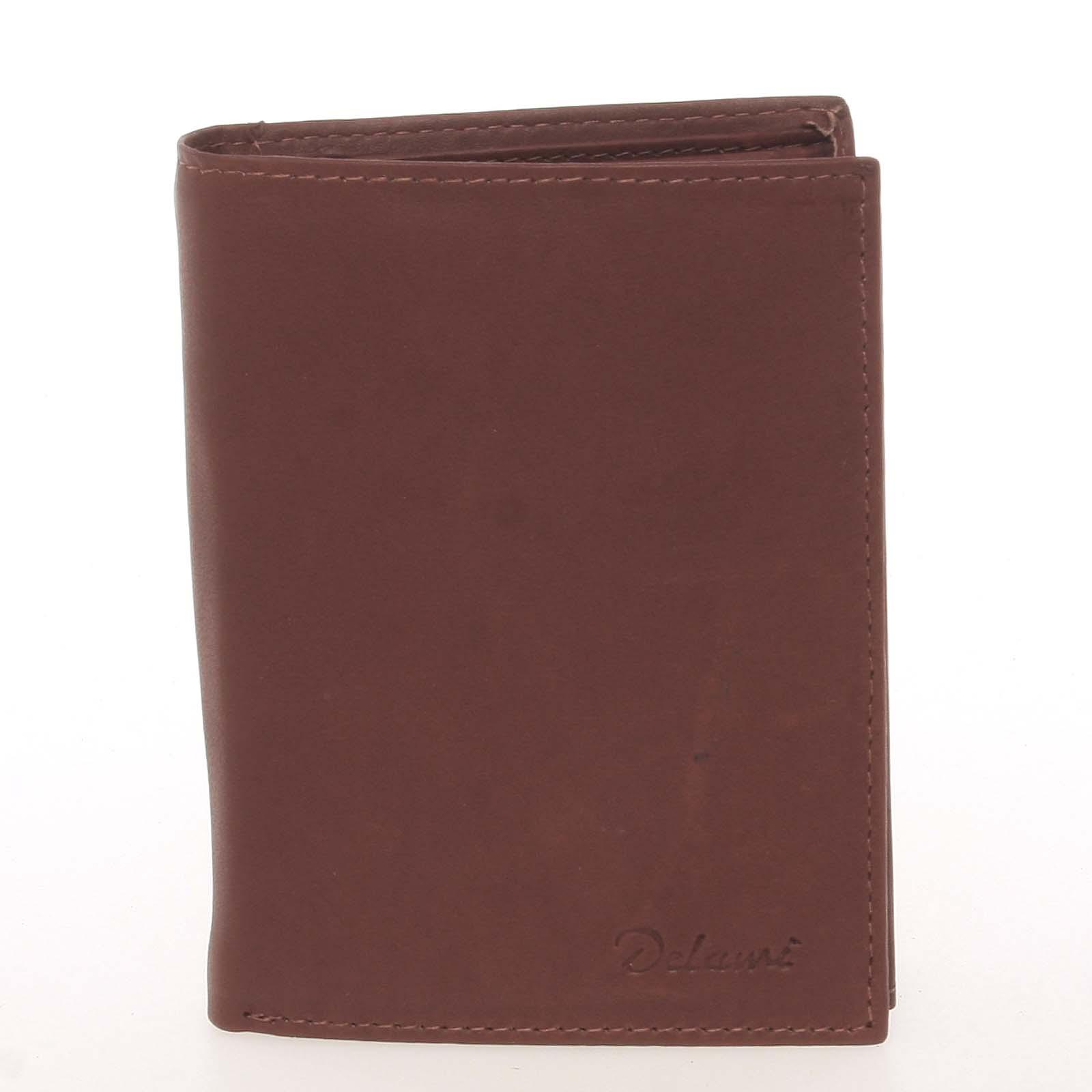 Pánská kožená hnědá peněženka - Delami Therron