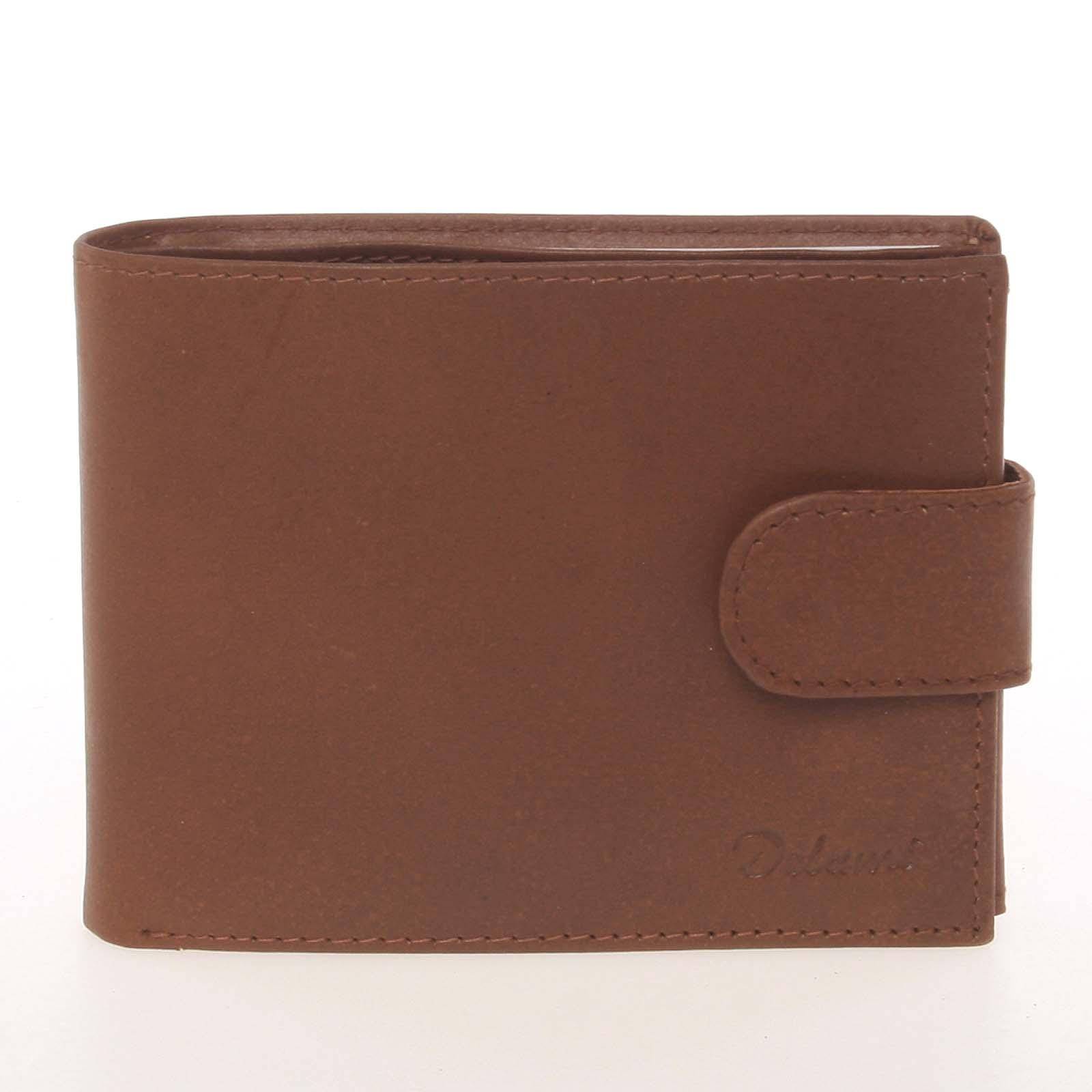 Pánská kožená světle hnědá peněženka - Delami Silvain