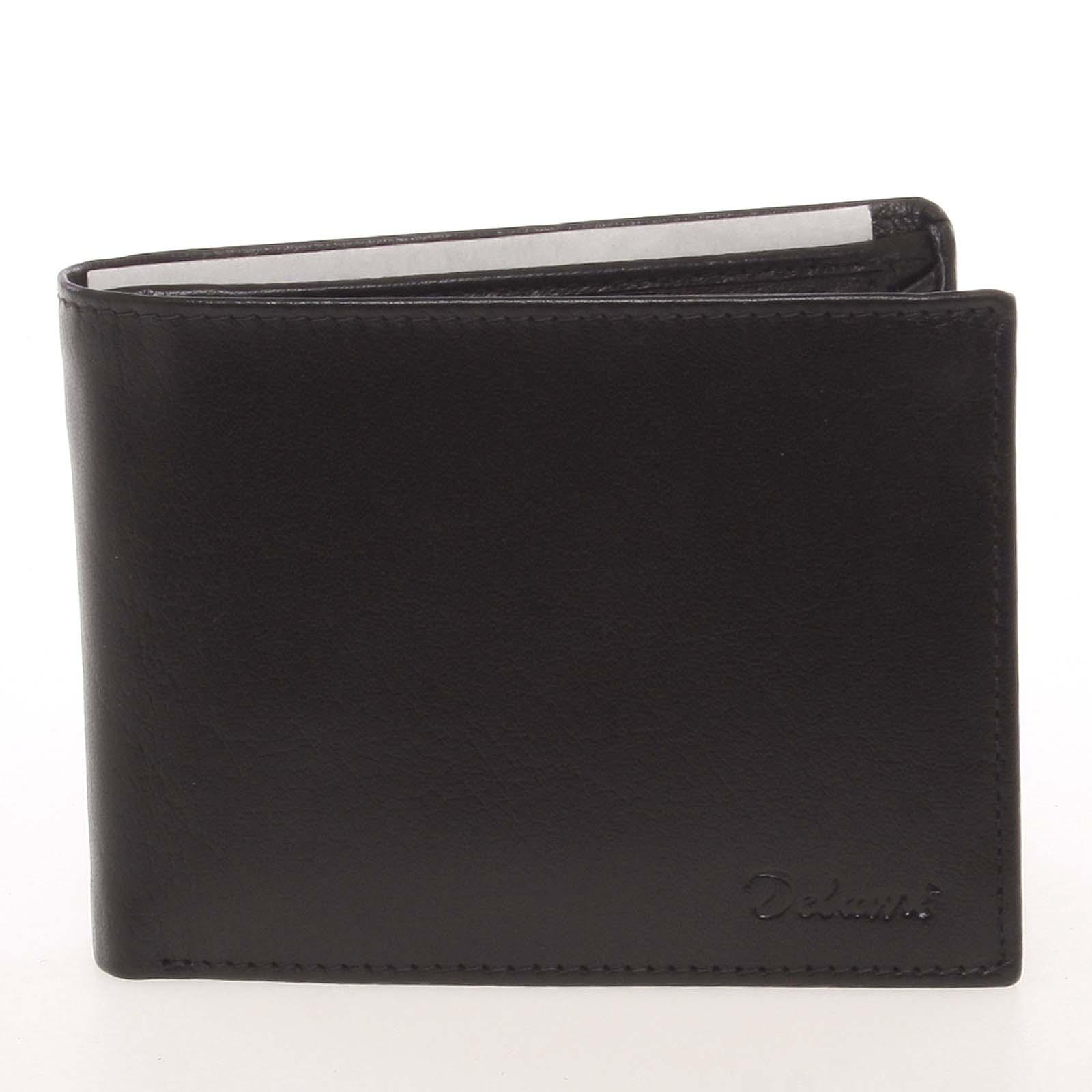 Pánská kožená černá peněženka - Delami Colbey