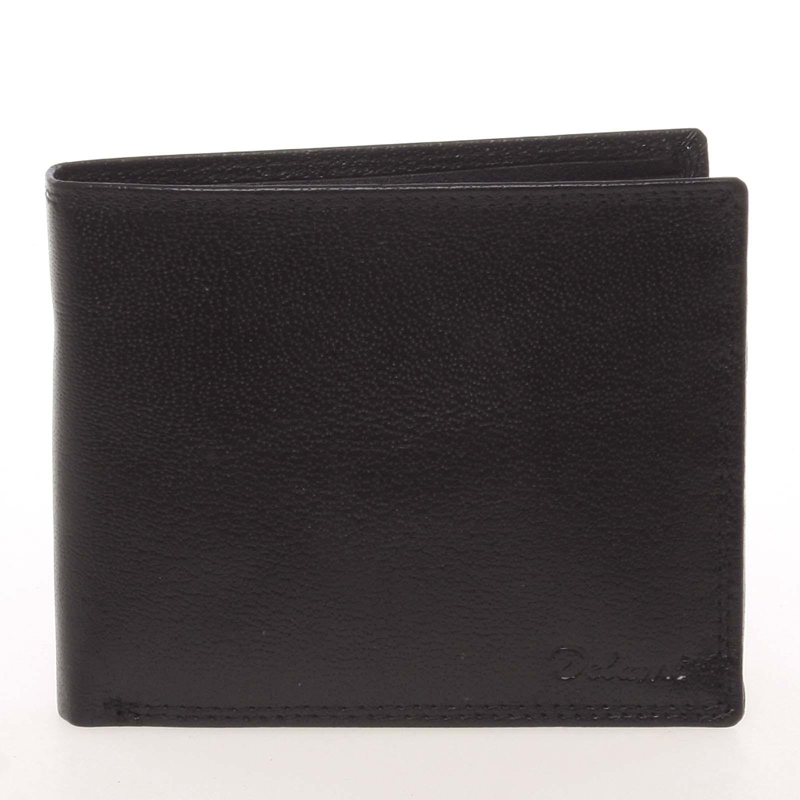 Kožená elegantní černá peněženka pro muže - Delami Gaillard