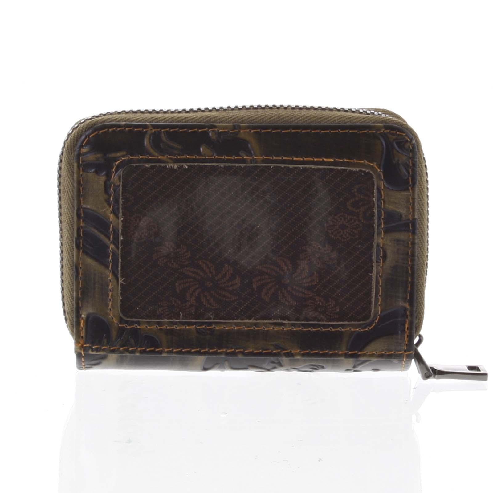 Malá dámská peněženka kožená měděná - Rovicky 5157