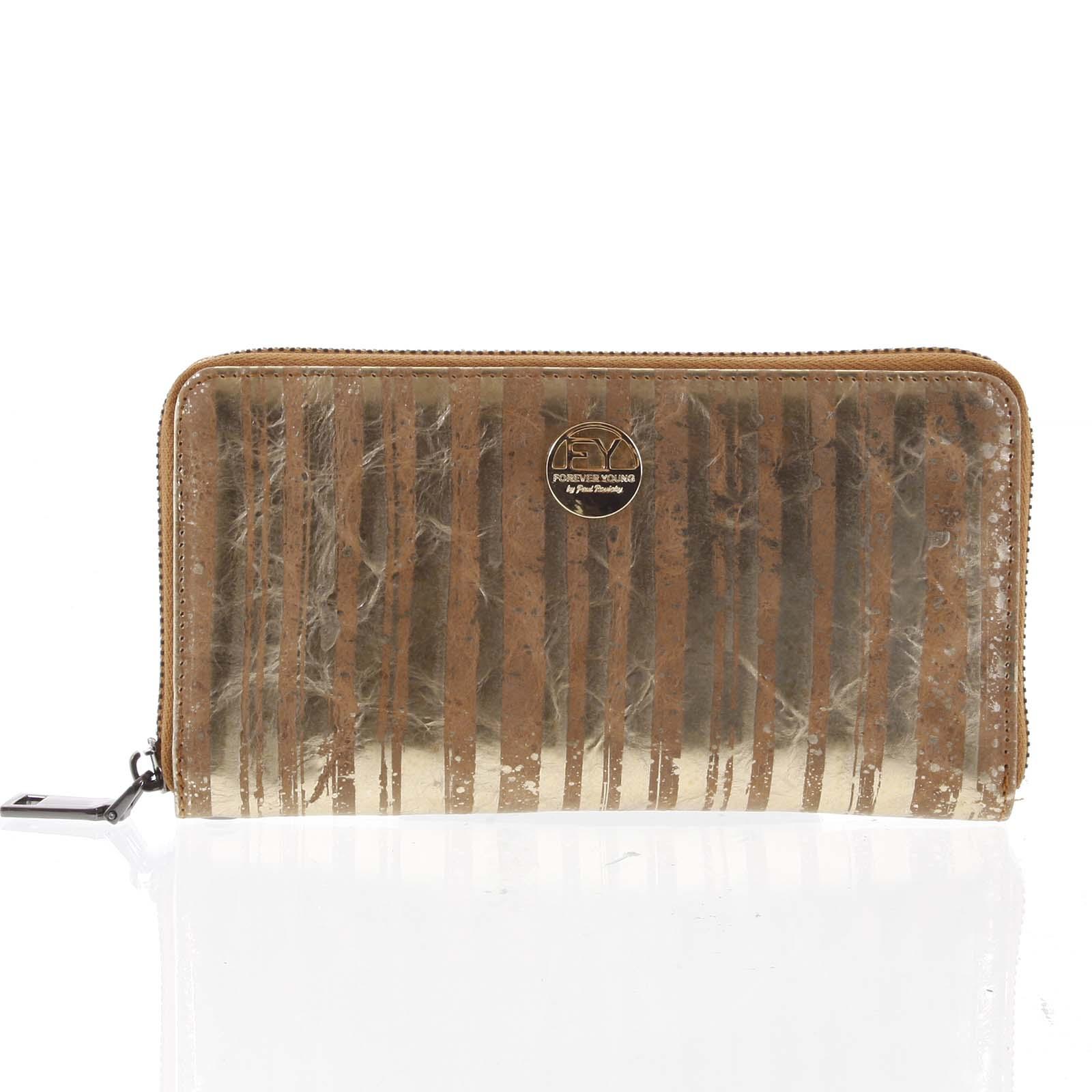 Luxusní dámská kožená peněženka pouzdro zlaté - Rovicky 76119