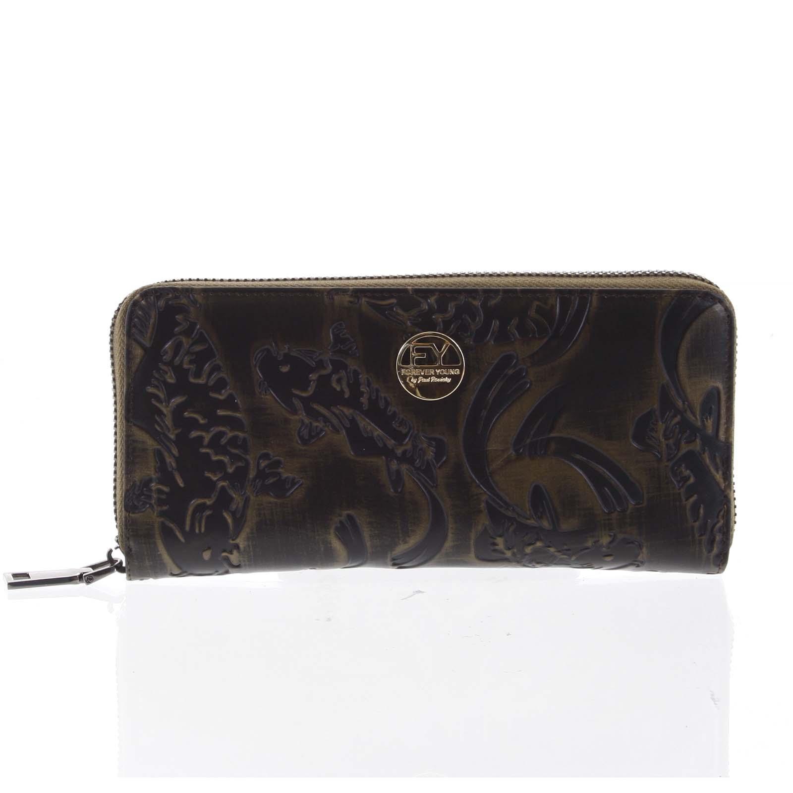 Luxusní dámská kožená peněženka pouzdro měděné - Rovicky 77006