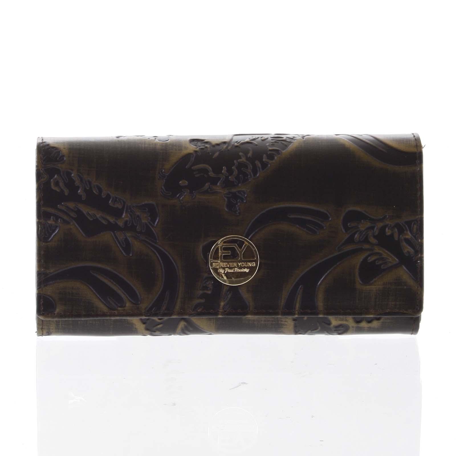 Elegantní dámská kožená peněženka měděná - Rovicky 64003