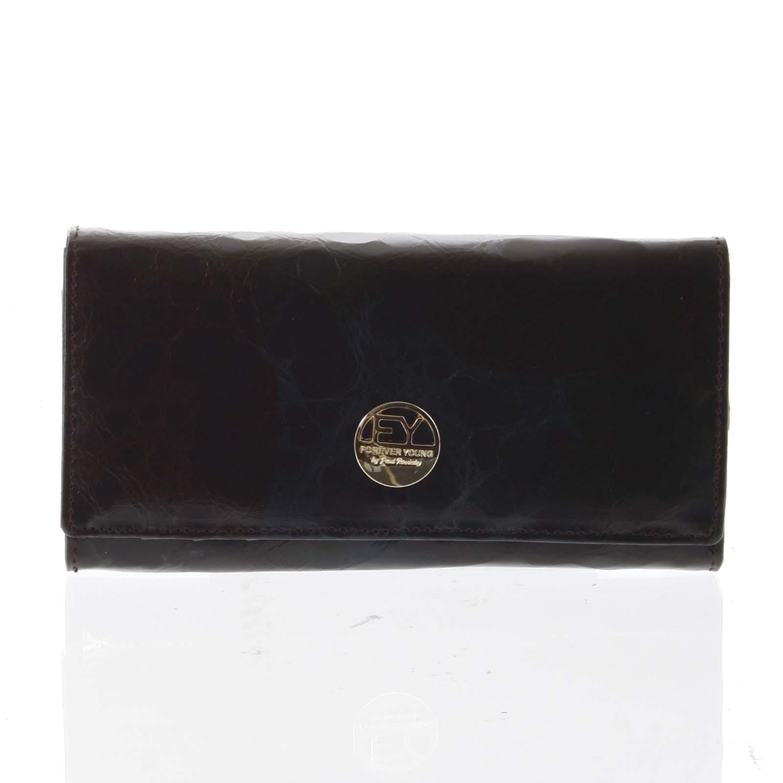 Elegantní dámská kožená peněženka černá - Rovicky 64003