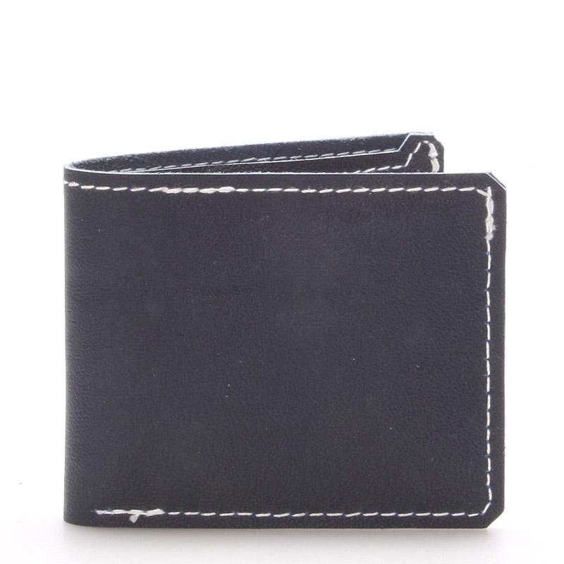 Luxusní modrá kožená peněženka