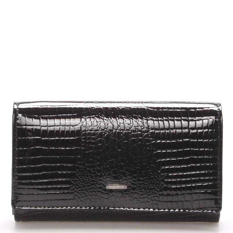 Černá kožená peněženka Angela Moretti WL22