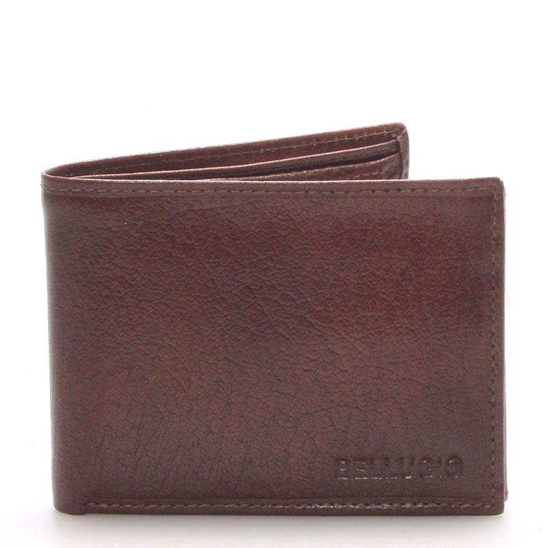 Pánská kožená peněženka hnědá - BELLUGIO Ames