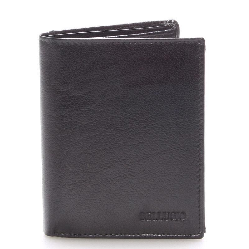 Pánská kožená peněženka černá - BELLUGIO Russ