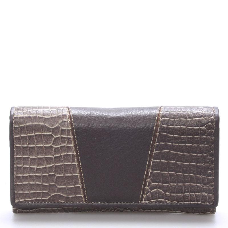 Dámská kožená peněženka hnědá - SendiDesign Aubry