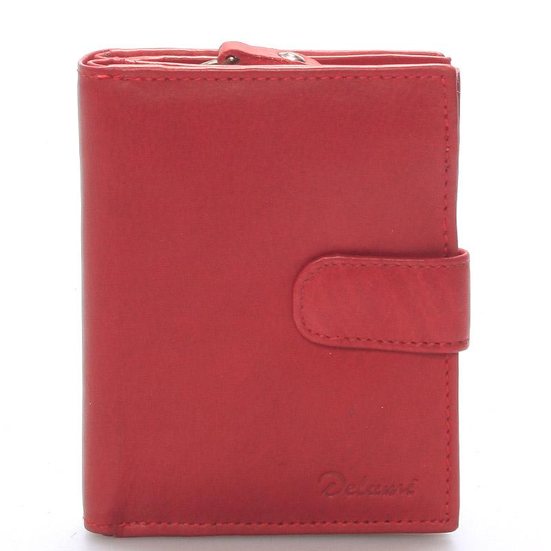 Dámská kožená peněženka červená - Delami Celestiel