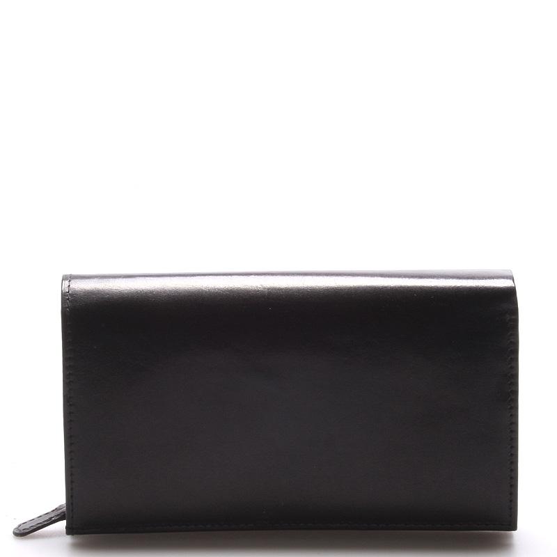 Dámská kožená černá peněženka - ItalY H035