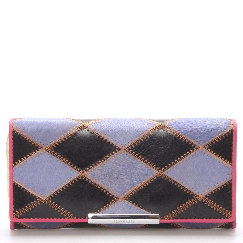 Dámská polokožená modrá peněženka - CAVALDI cav36