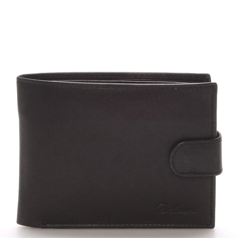 Pánská kožená černá peněženka - Delami 8945