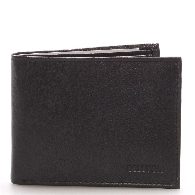 Pánská kožená černá peněženka - BELLUGIO Dillon