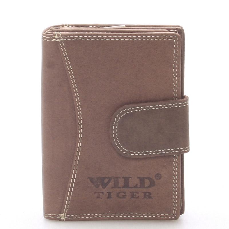 Luxusní kožená peněženka tmavě hnědá - WILD Baptista