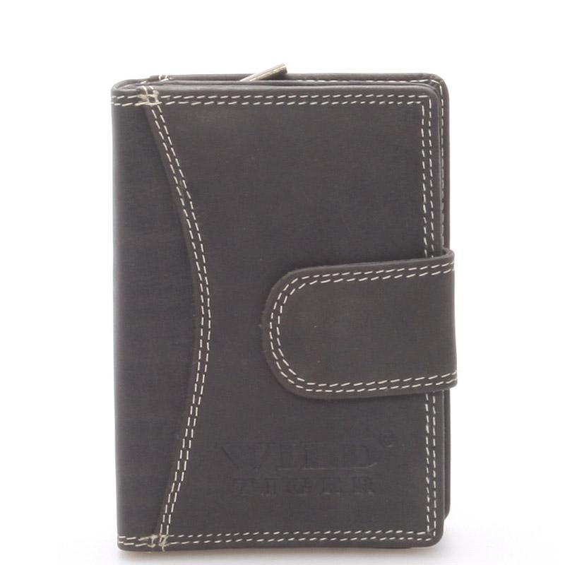 Luxusní kožená peněženka černá - WILD Baptista