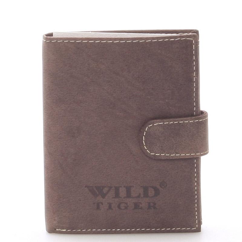 Pánská kožená peněženka tmavě hnědá - WILD Balthazar