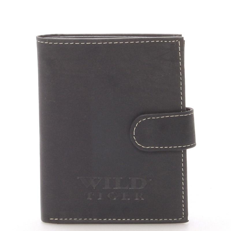 Pánská kožená peněženka černá - WILD Balthazar