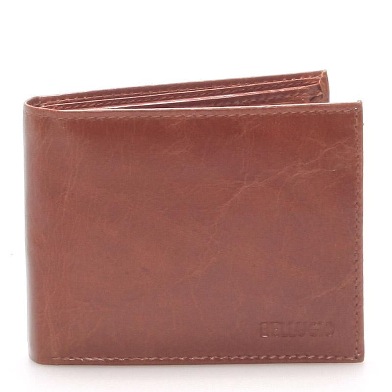 Pánská kožená peněženka hnědá - Bellugio Caesar
