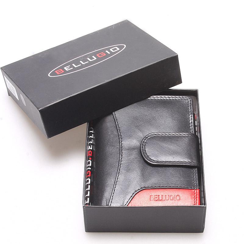 Větší kožená peněženka dámská černá - Bellugio Cadis
