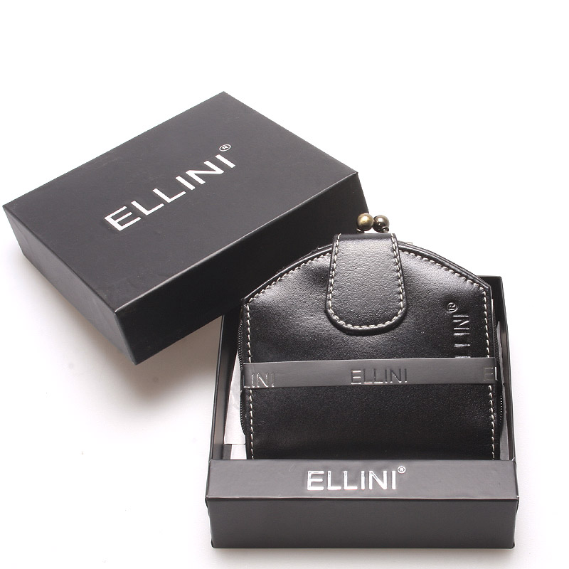 Dámská luxusní kožená peněženka černá - Ellini Dafne